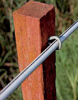 FENCING SOLUTIONS, LOW COST HORSE FENCE, T POST CAPS